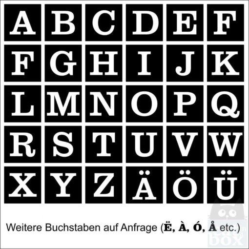 Holzwürfel Buchstabe negativ catinabox.de - Auswahl