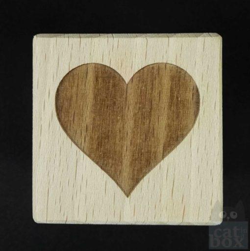 Holzwürfel Symbole positiv -Herz
