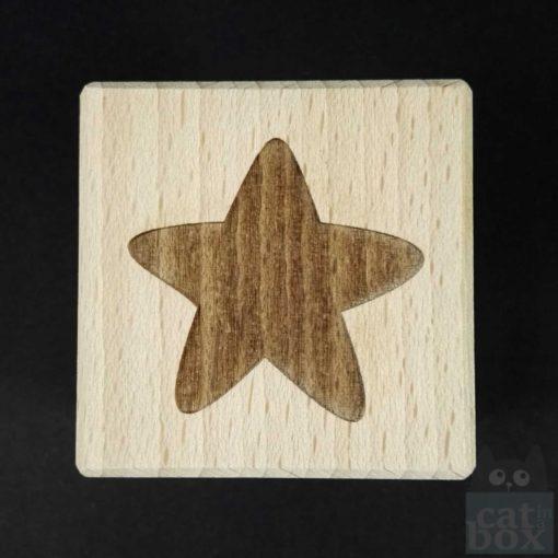 Holzwürfel Symbole positiv -Stern