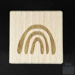 Holzwürfel Symbole positiv -Regenbogen