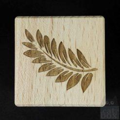 Holzwürfel Symbole positiv -Ranke links