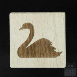 Holzwürfel Symbole positiv -Schwan