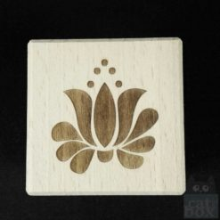 Holzwürfel Symbole positiv -Blume