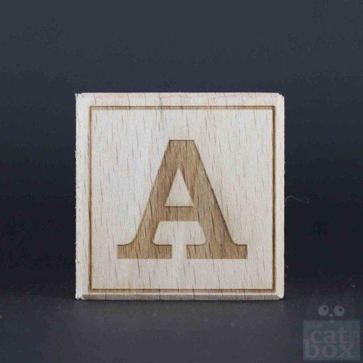 Holzwürfel Buchstabe positiv catinabox - Bild1