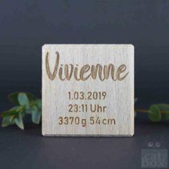 Holzwürfel Geburtswürfel - catinabox Schrift Vivienne