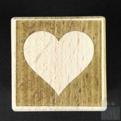 Holzwürfel Symbole negativ -Herz
