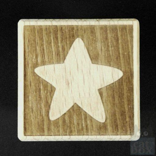 Holzwürfel Symbole negativ -Stern