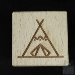 Holzwürfel Symbole positiv - Tipi