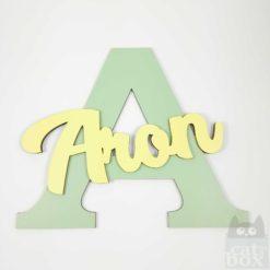 Türschild LetterKid - Aron - catinabox.de
