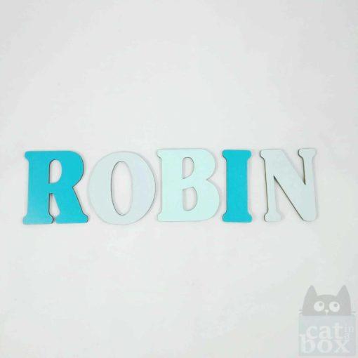 Buchstabe Schrift Robin 1 - catinabox.de