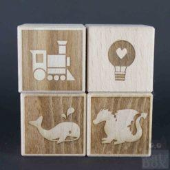 Symbole negativ Holzwürfel by catinabox.de