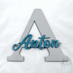 Türschild LetterKid - Anton 1 - catinabox.de
