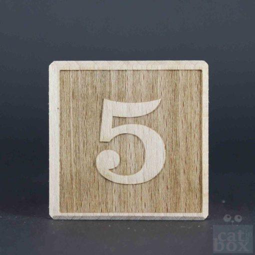 Zahl negativ Holzwürfel by catinabox.de - Bild1
