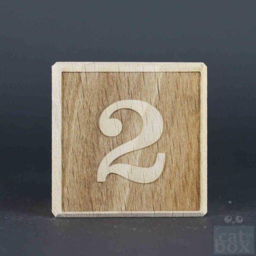 Zahl negativ Holzwürfel by catinabox.de