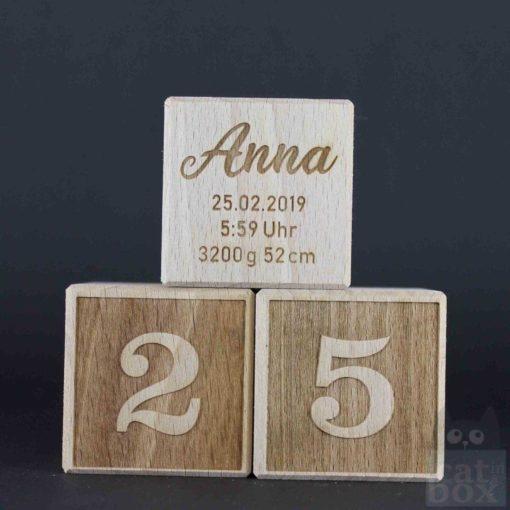 Zahl negativ Holzwürfel by catinabox.de - Bild3