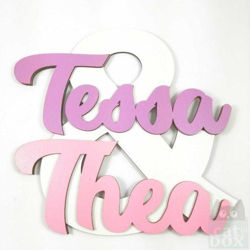 Türschild - Geschwister - Tessa