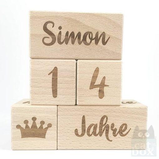 Meilenstein-Set Simon (Schreibschrift)